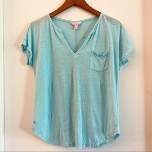 Lilly Pulitzer Duval Linen Top Size XS